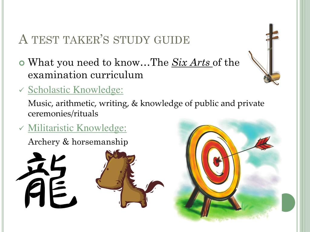 A test taker's study guide