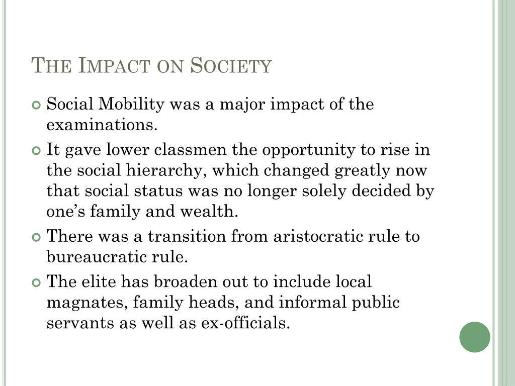 The Impact on Society