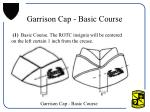 garrison cap basic course