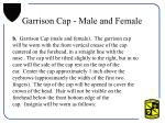 garrison cap male and female