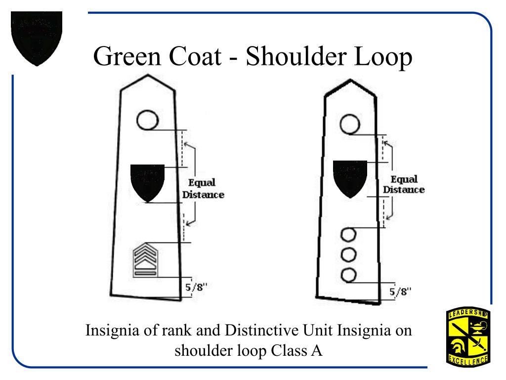 Green Coat - Shoulder Loop