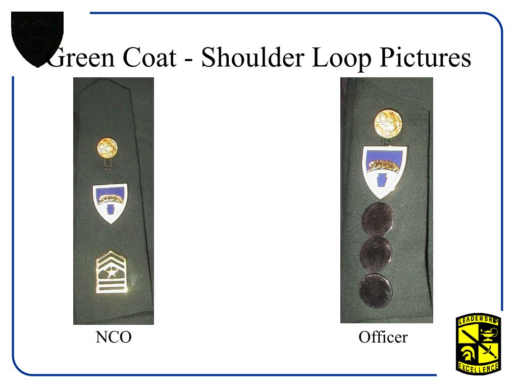Green Coat - Shoulder Loop Pictures