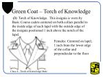 green coat torch of knowledge