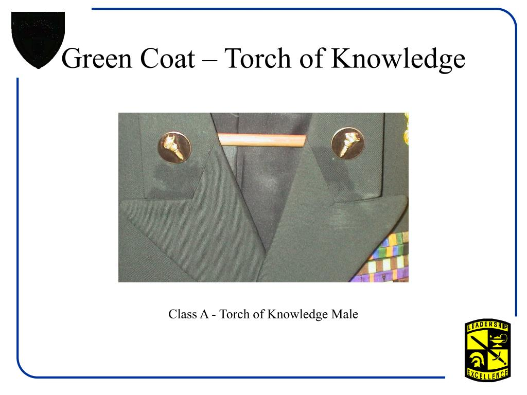 Green Coat – Torch of Knowledge
