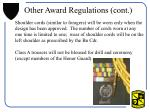 other award regulations cont