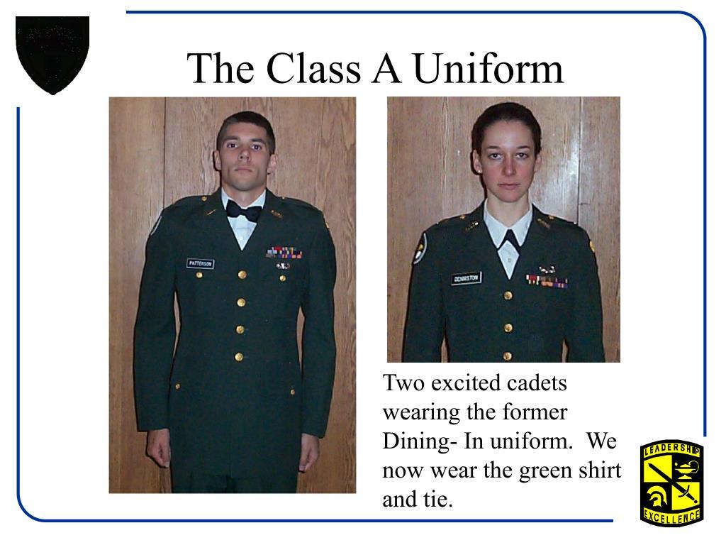 The Class A Uniform