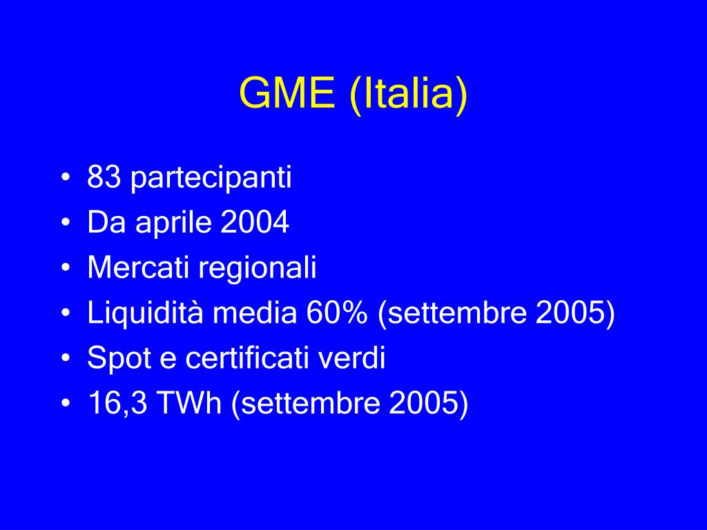 GME (Italia)