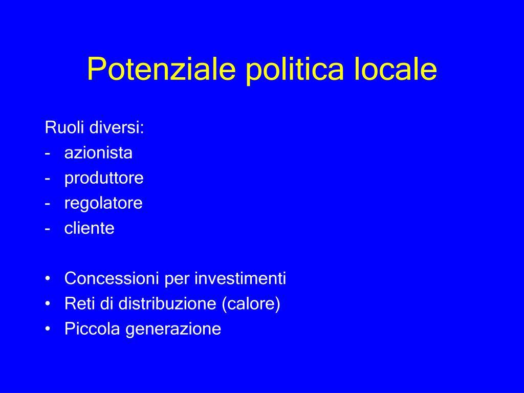 Potenziale politica locale