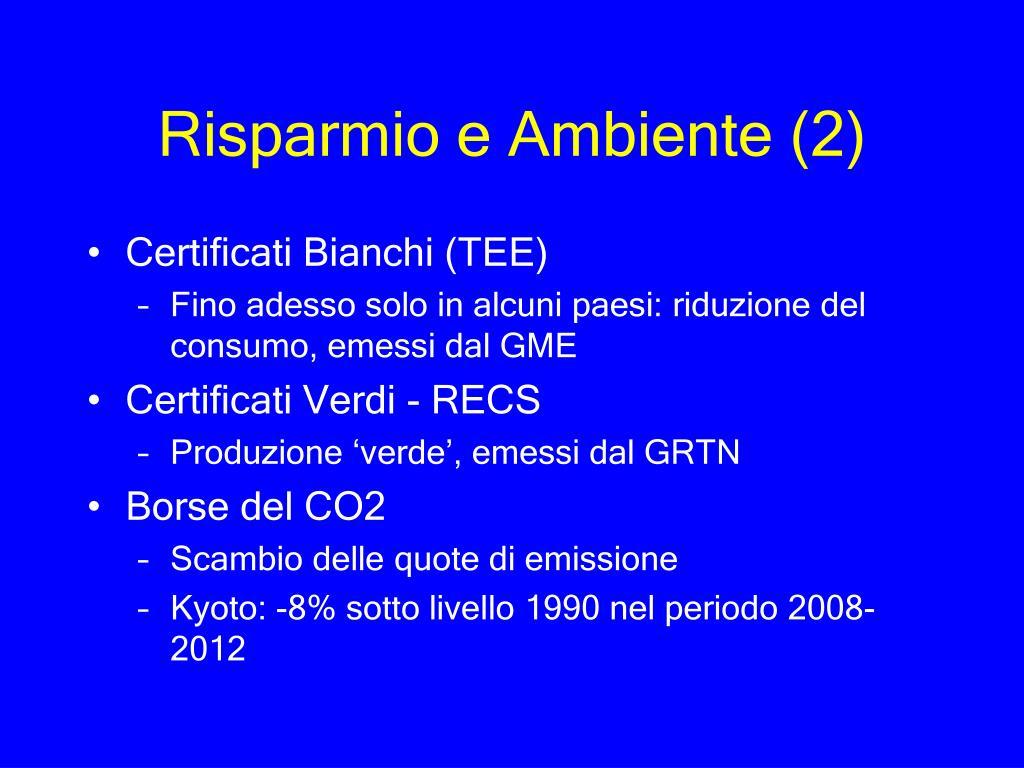 Risparmio e Ambiente (2)