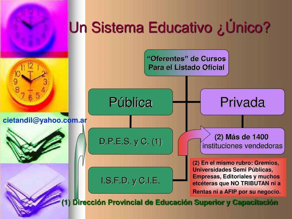 Un Sistema Educativo ¿Único?