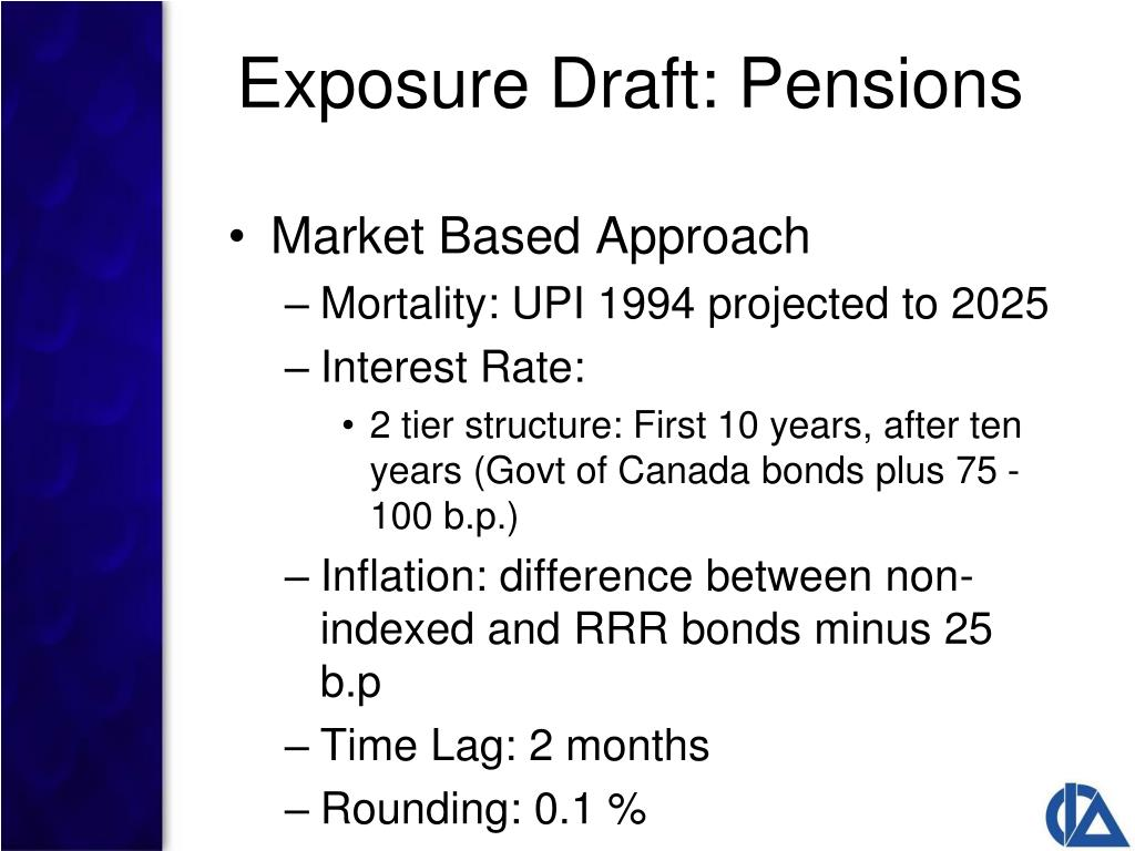 Exposure Draft: Pensions