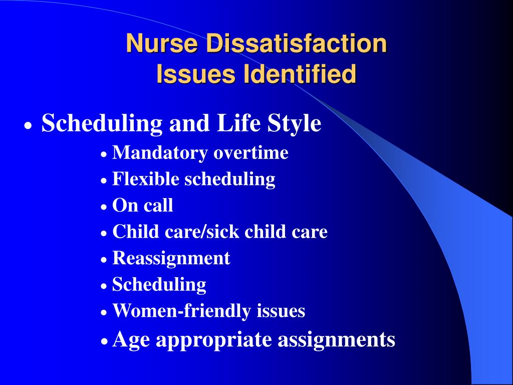 Nurse Dissatisfaction