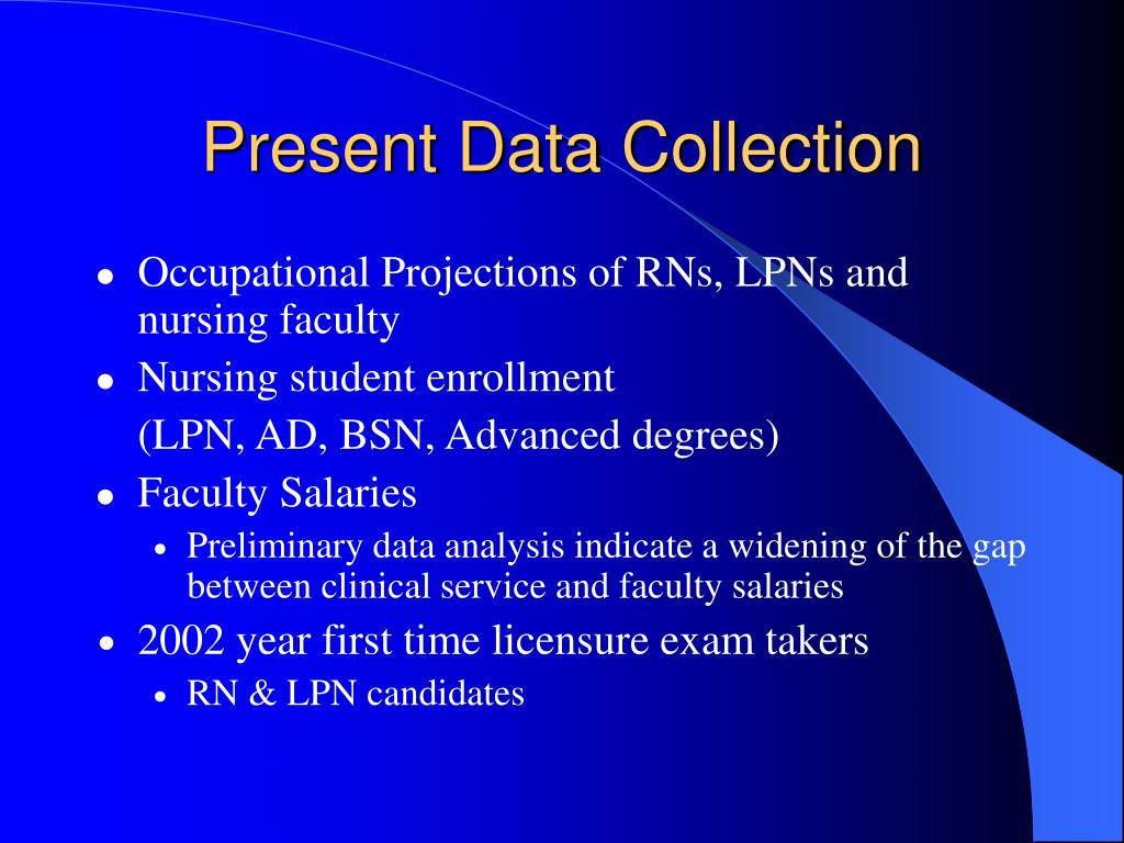 Present Data Collection