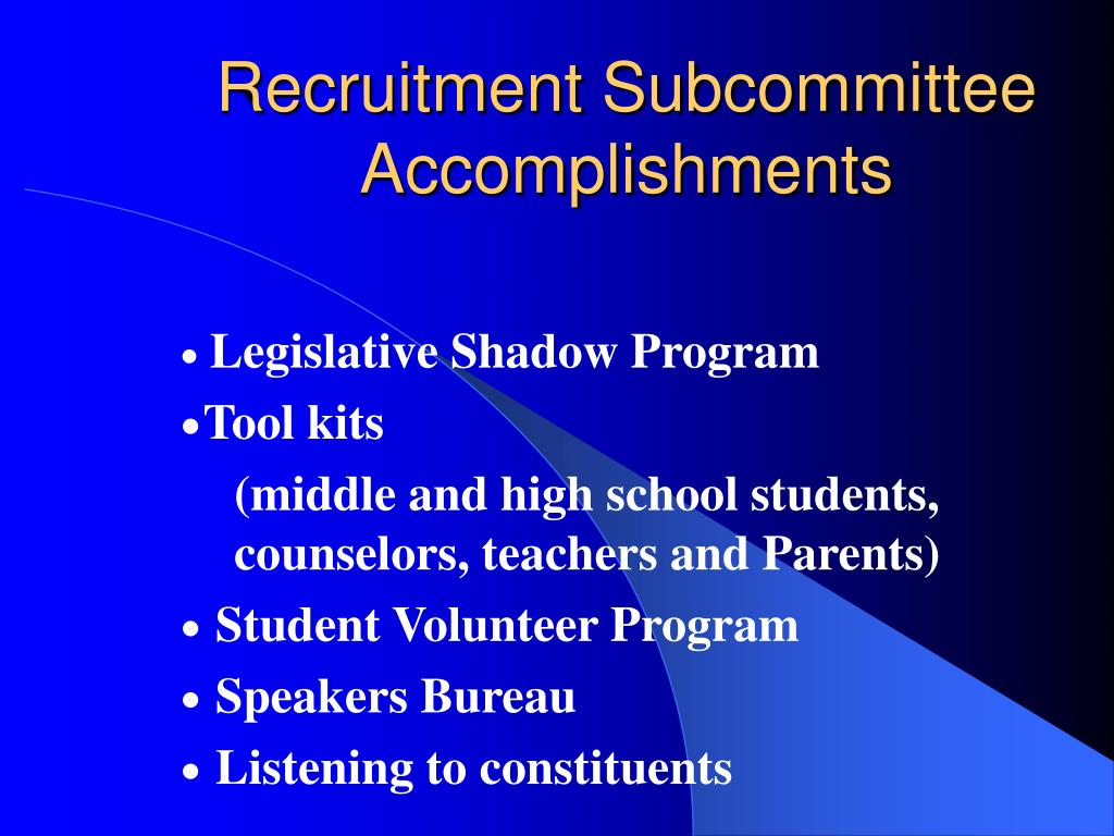 Recruitment Subcommittee
