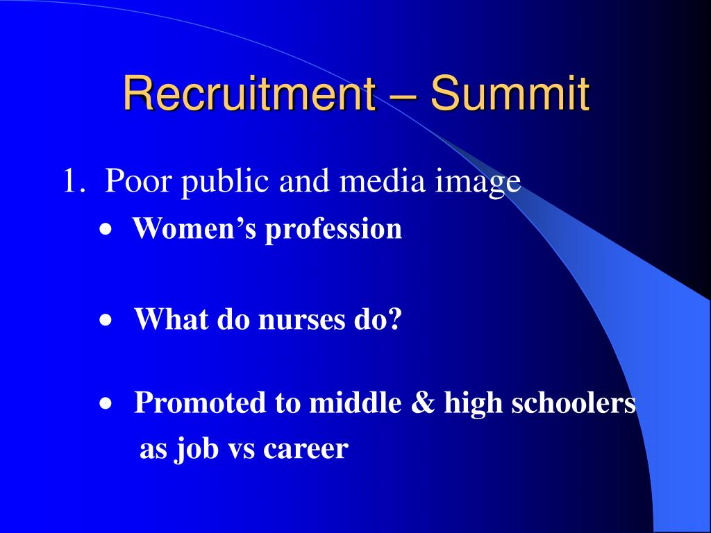 Recruitment – Summit