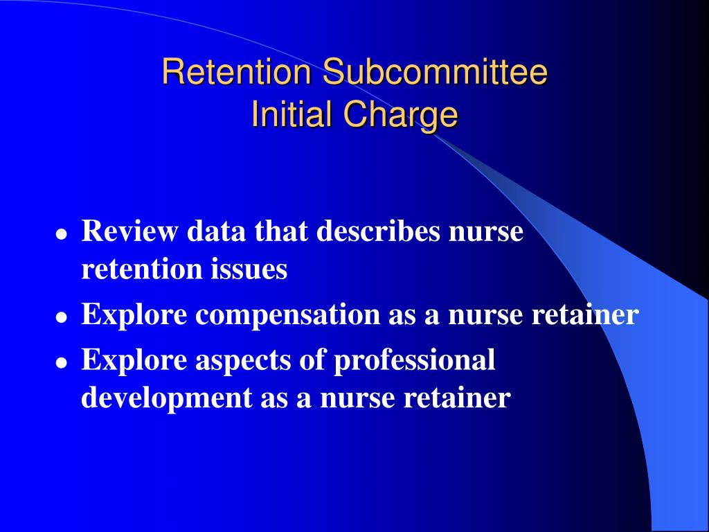 Review data that describes nurse retention issues