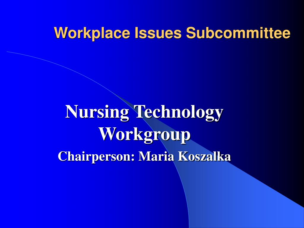 Workplace Issues Subcommittee