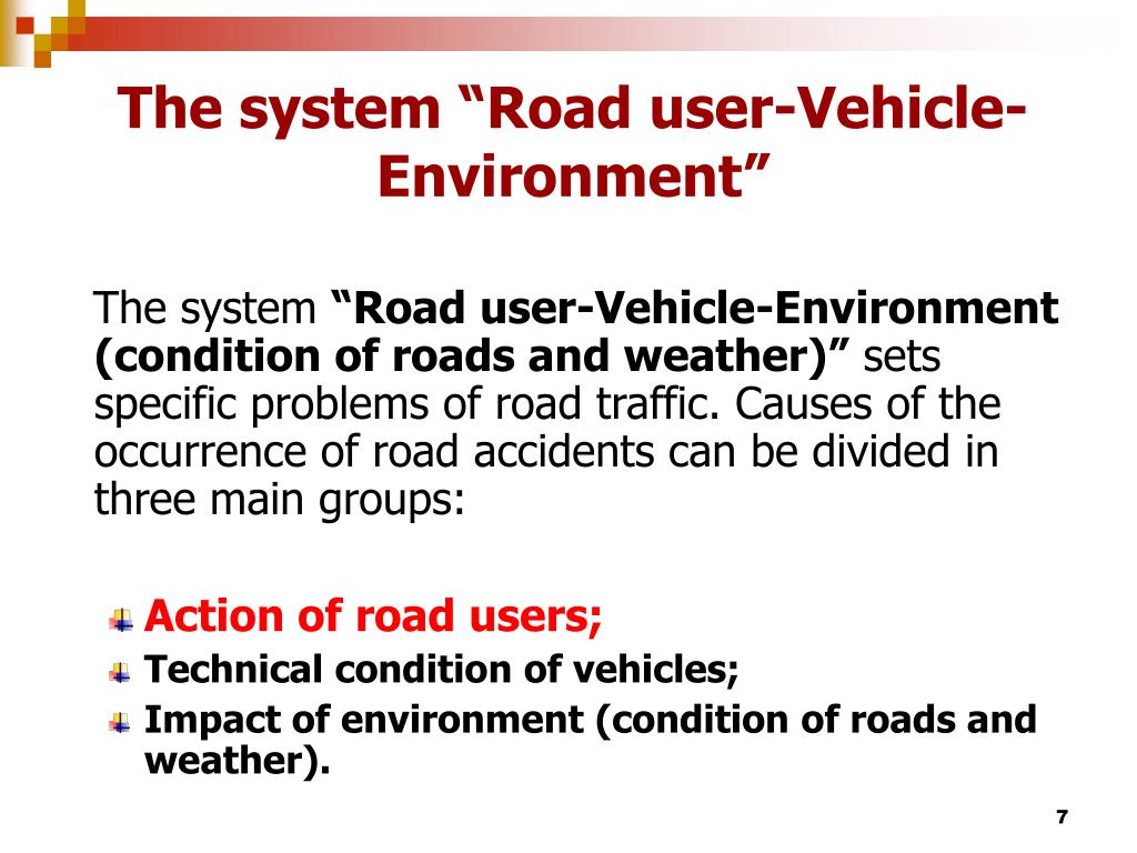 "The system ""Road user"