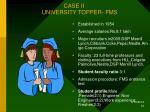 case ii university topper fms