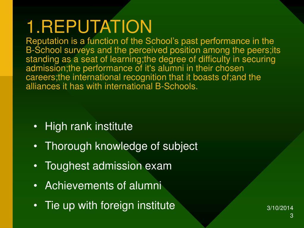 1.REPUTATION