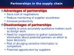 partnerships in the supply chain13