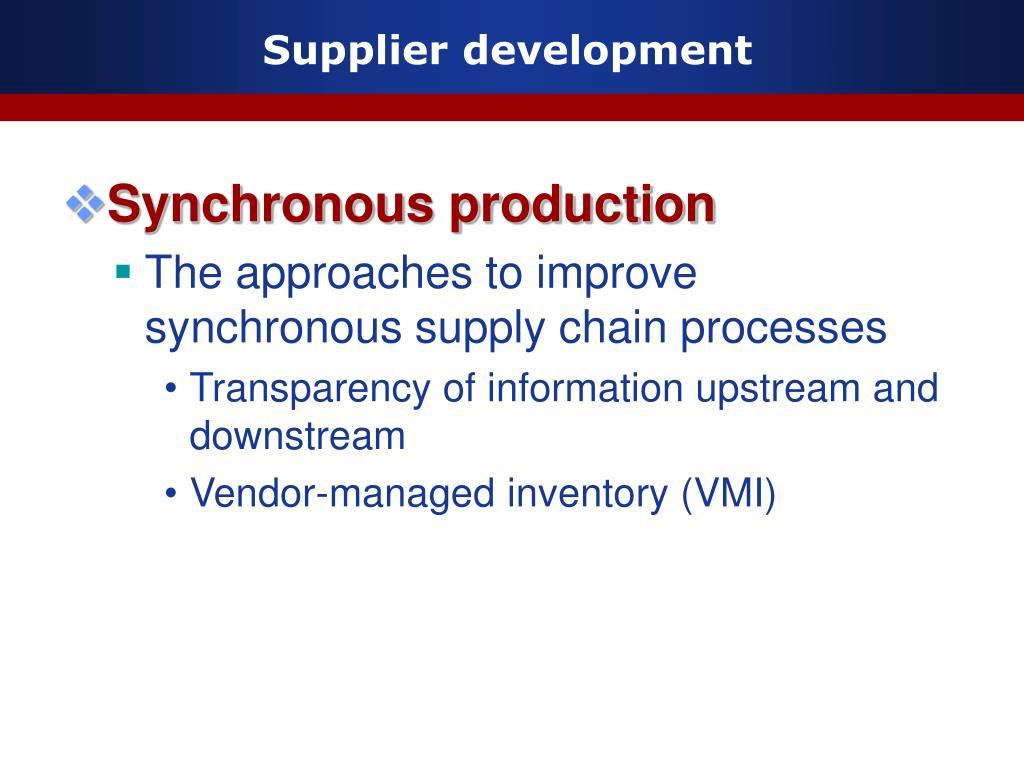 Supplier development