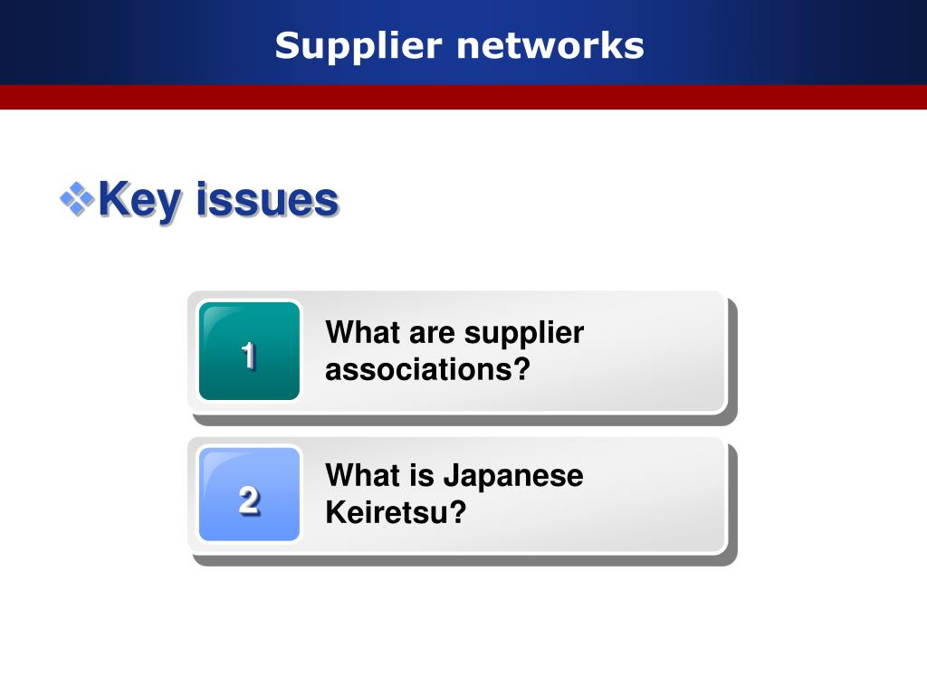 What are supplier associations?