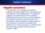 supplier networks16