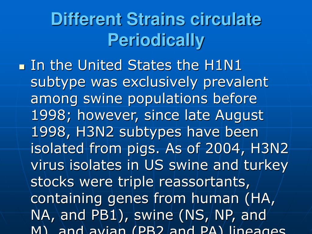 Different Strains circulate Periodically