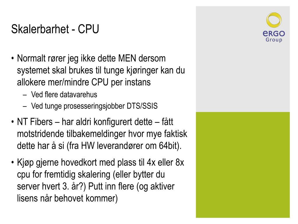 Skalerbarhet - CPU