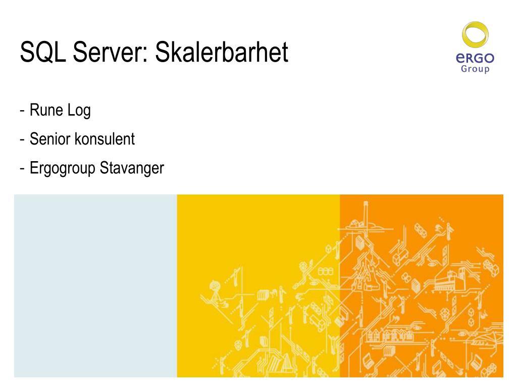 SQL Server: Skalerbarhet