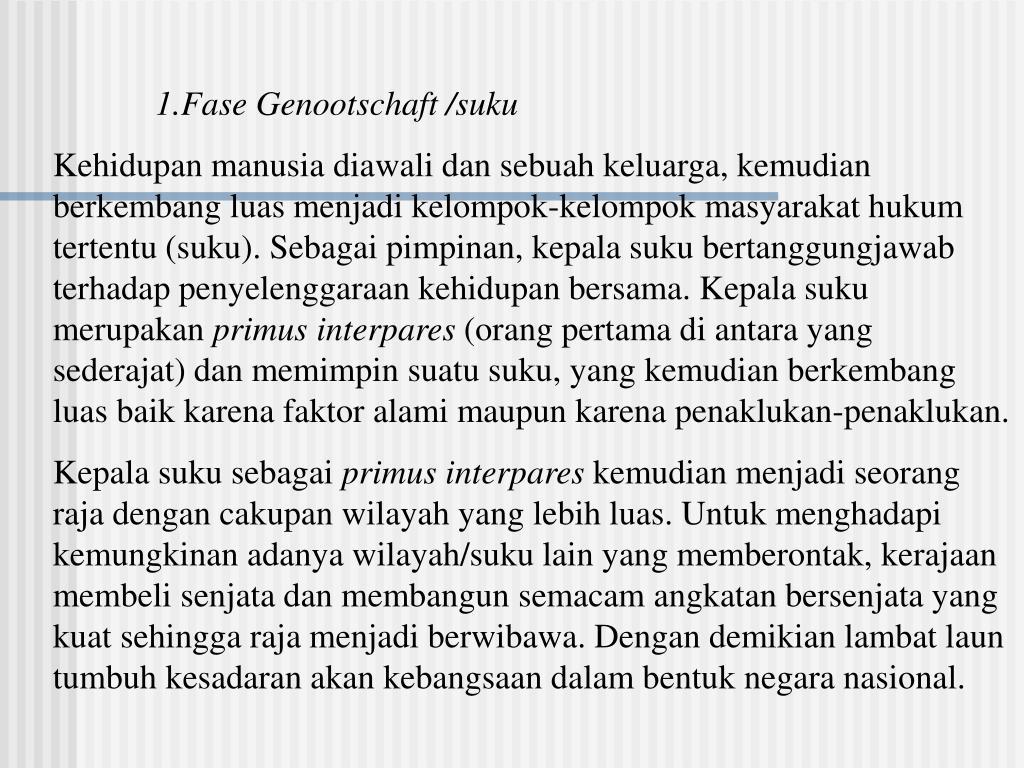 1.Fase Genootschaft /suku