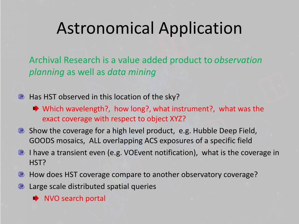 Astronomical Application