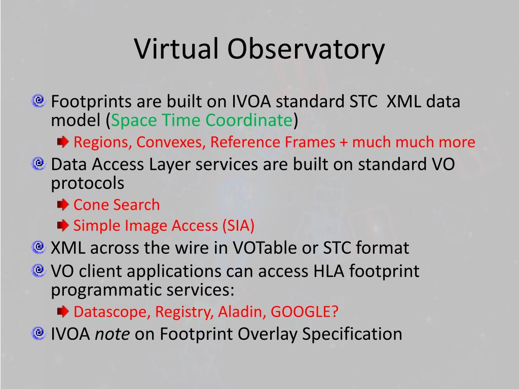 Virtual Observatory