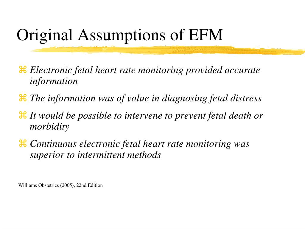 Original Assumptions of EFM
