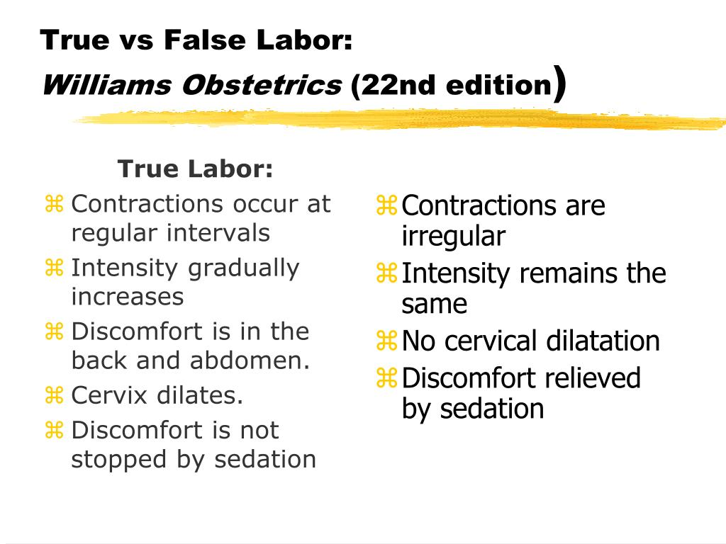 True vs False Labor: