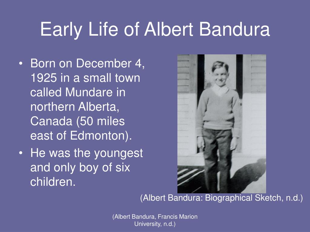 a biography of albert bandura a canadian psychologist Bandura - social learning theory by saul mcleod , updated 2016 in social learning theory, albert bandura (1977) agrees with the behaviorist learning theories of classical conditioning and.