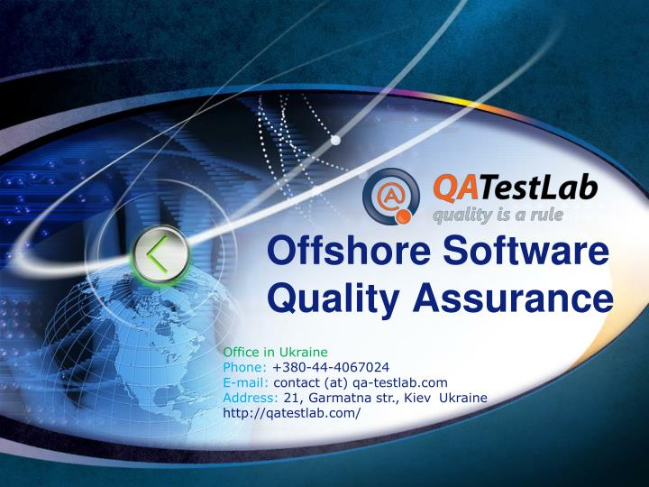 Offshore software quality assurance l.jpg