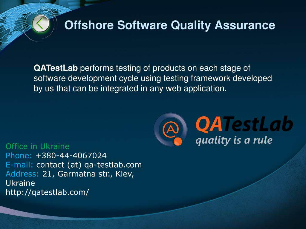 Offshore Software Quality Assurance