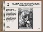 alanna the first adventure by tamora pierce