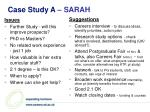 case study a sarah