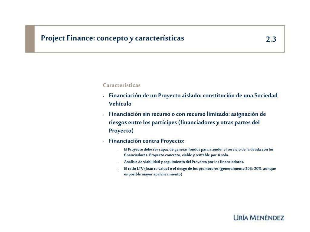 Project Finance: concepto y características