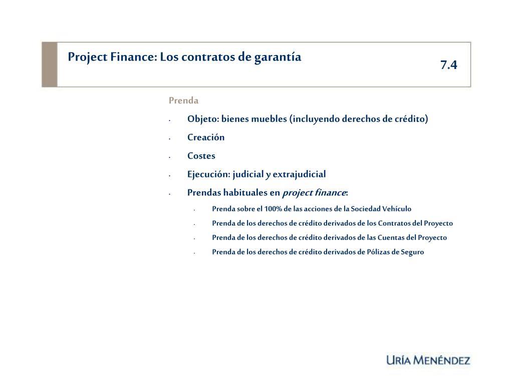 Project Finance: Los contratos de garantía