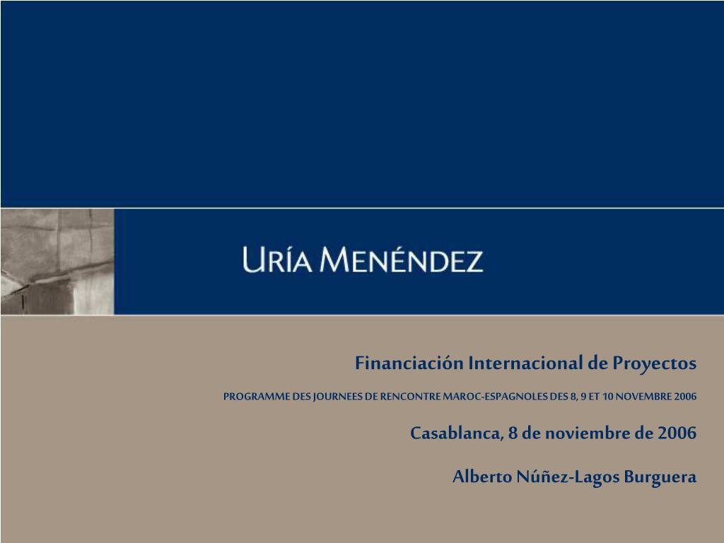 Financiación Internacional de Proyectos