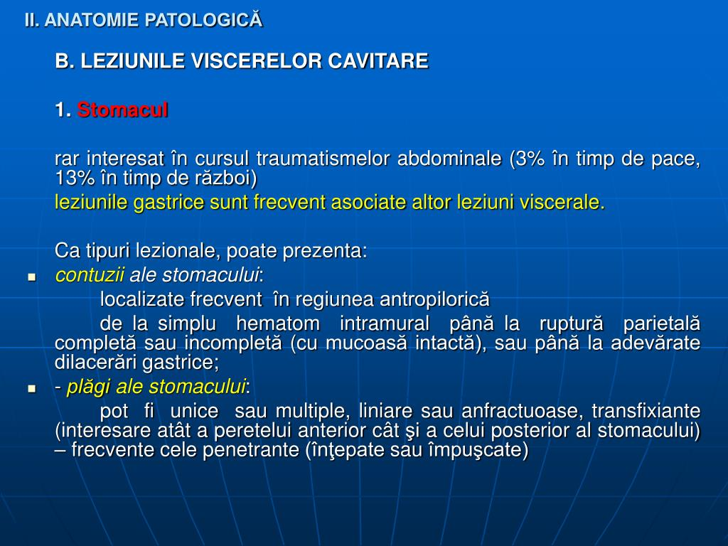 II. ANATOMIE PATOLOGICĂ