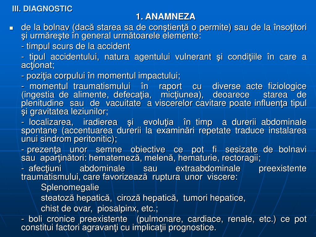 III. DIAGNOSTIC