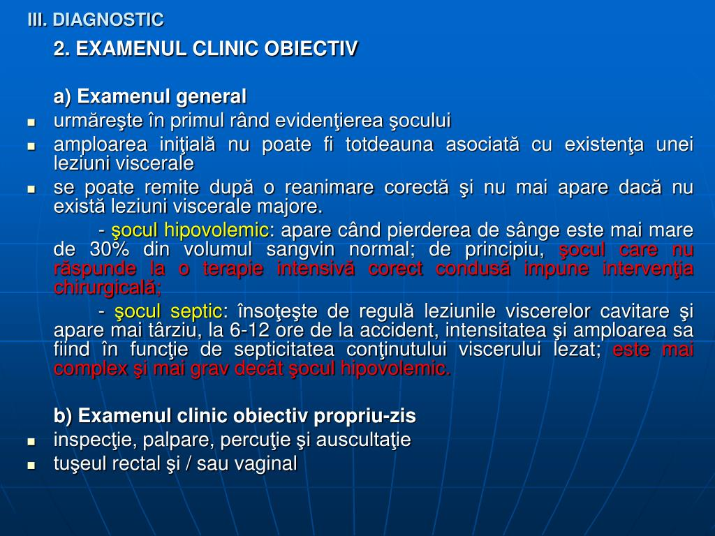 III. DIAGNOSTIC