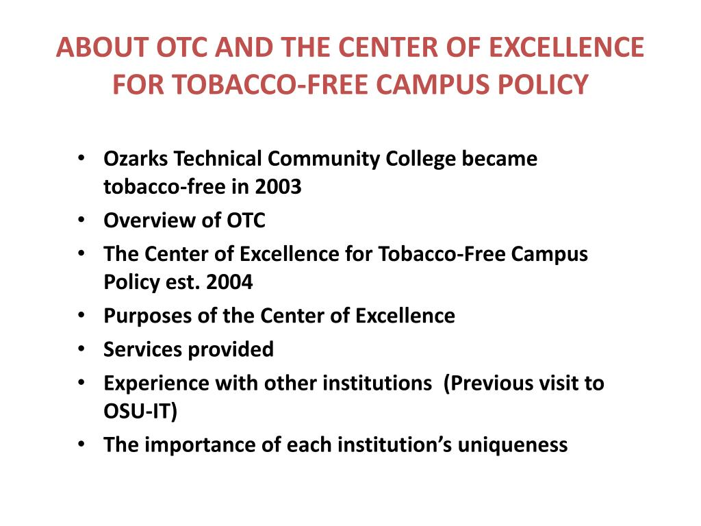 ABOUT OTC AND THE CENTER OF EXCELLENCE