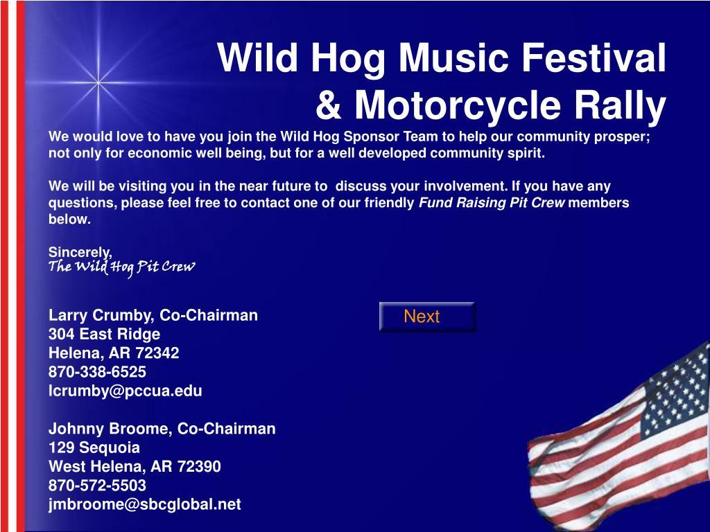 Wild Hog Music Festival