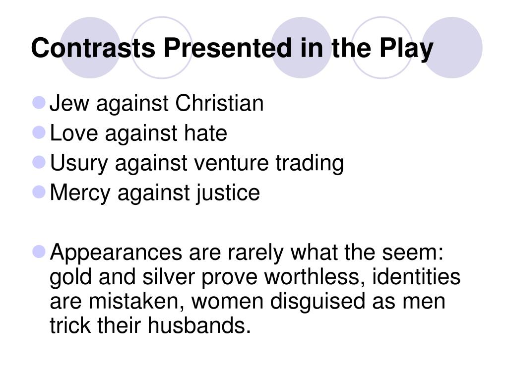 Contrasts Presented in the Play